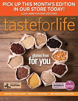 August 2015 Taste for Life cover archive